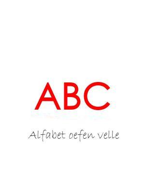 Alfabet Handskrif Oefen Velle – Kinders eBoek